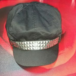 Accessories - Black Studded Hat