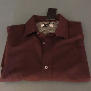 Five Four Other - Dark Red Button Down - Large - Brand New