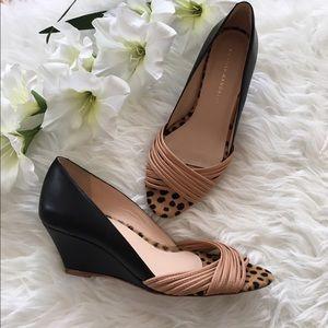 Loeffler Randall Shoes - Loeffler Randall Cheetah Multi-strap Wedges