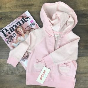 Cat & Jack Other - NWT Cat & Jack 6-9M Pink Hoodie 🎀
