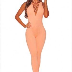 Fashion Nova Pants - Orange 🍊 Sherbert Jumpsuit