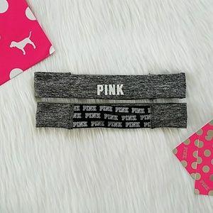 PINK Victoria's Secret Accessories - Victoria Secret PINK 1 Ultimate Logo Headband Gray