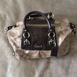 Coach satchel in signature canvas