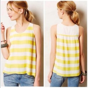 Anthropologie Citron Pleated Top