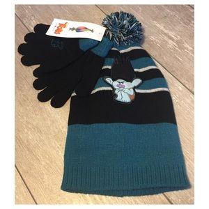 f1812483b00 DreamWorks Accessories - DreamWorks Trolls Grumpy Branch Hat   Glove Set