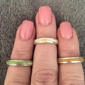 Jewelry - .925 S/S stackable midi rings