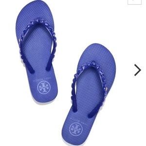 Tory Burch Shoes - Tory Burch Jeweled Flip Flops New in Box