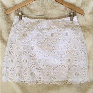 Lilly Pulitzer Resort White Eyelet 'Tate' skirt