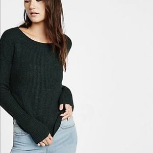 Express Crew-neck Shaker Knit Sweater
