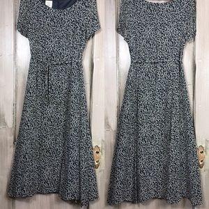 Laura Ashley Dresses & Skirts - Vintage Laura Ashley Black/Cream Flower Dress
