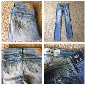 Hollister Denim - New Hollister Destroyed Skinny Jeans