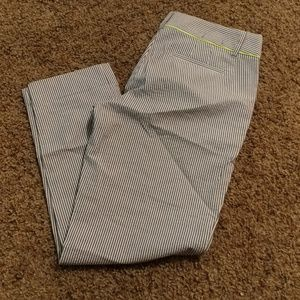J.Crew pinstriped cropped pants