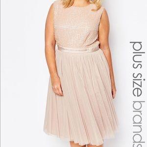 Lovedrobe Dresses & Skirts - NWT Lovedrobe Beaded Rose Gold Dress