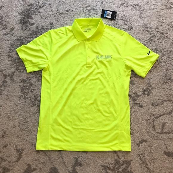 044dbe17 Nike Shirts | Mens Neon Yellow Golf Tour Performance Shirt | Poshmark
