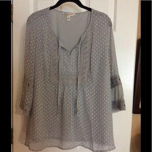 Krazy Kat Tops - Ladies gray blouse