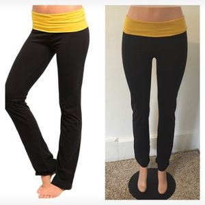Pants - NEW black & mustard yoga pants