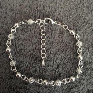 Jewelry - NWT .925 Sterling Silver beaded bracelet