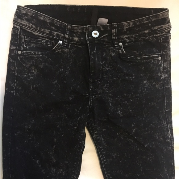 women great deals on fashion choose clearance H&M Divided Black Acid Wash Jeans