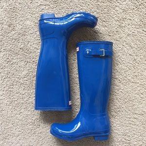 Hunter Shoes - Glossy Blue Hunter's