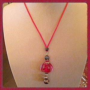 boutique Jewelry - 30% OFF BUNDLES❤️Handmade Red Pendant Necklace❤️