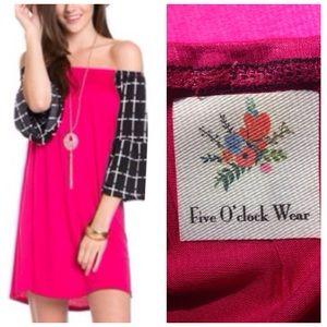 fiveoclockwear Dresses & Skirts - ‼️1-HOUR-SALE‼️ off shoulder hot dress