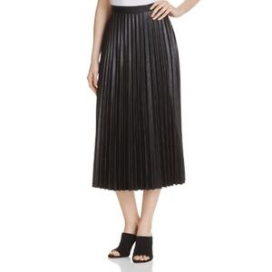 Gracia Dresses & Skirts - Gracia Faux Leather Pleated Skirt