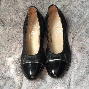 AGL Shoes - AGL Cap Toe Flats Black