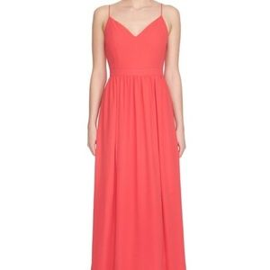 1. State Dresses & Skirts - 1 State pink lace up Maxi Dress