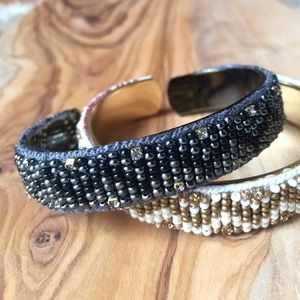 ANTHROPOLOGIE Beaded Cuff Bracelet