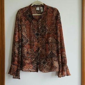 Emma James Tops - Blouse flowy great pattern