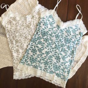 American Eagle Outfitters Tops - 🌈PRICE DROP🌈Lace Camisole Tank Bundle Lot