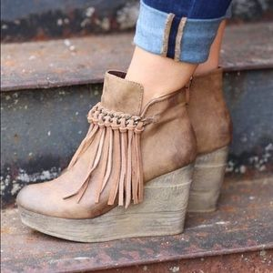 Sbicca Shoes - Sbicca Zepp Fringe Wedge Booties