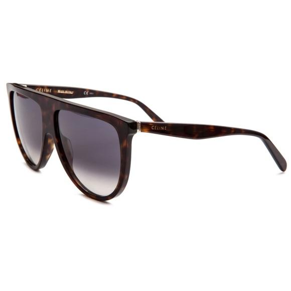 e250e4c0b5 Celine Accessories - Celine thin tortoise frame shadow sunglasses