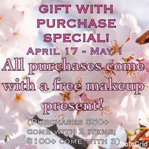 Other - Free Makeup Present With Every Purchase!