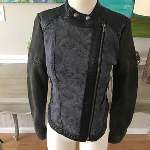 Free People Jackets & Blazers - Free People faux leather trim Moto jacket