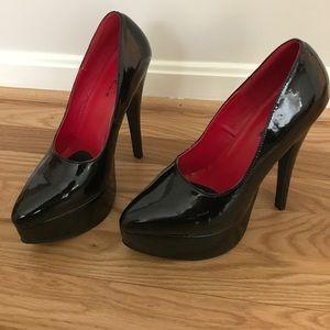 ellie Shoes - Sexy black platform heels