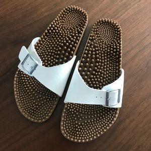 Birkenstock Shoes - Birkis Birkenstock white sandals