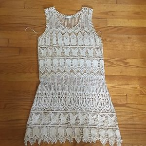 Solitaire crochet swimsuit cover up / dress size M