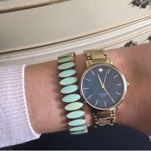 J. Crew Jewelry - J Crew Mint Stretch Bracelet