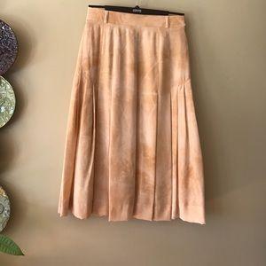 Escada Dresses & Skirts - Escada  Vintage 100% Silk Peach Skirt Size 6