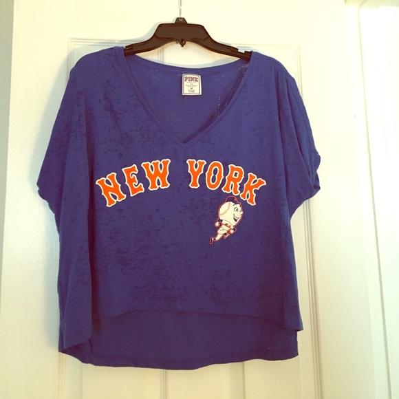 5995c85e NY Mets Crop Top