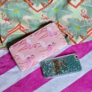 WILA Handbags - Pink Flamingos Wallet