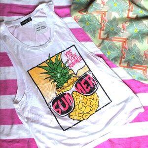 WILA Tops - I Love Summer Pineapple Tank🍍