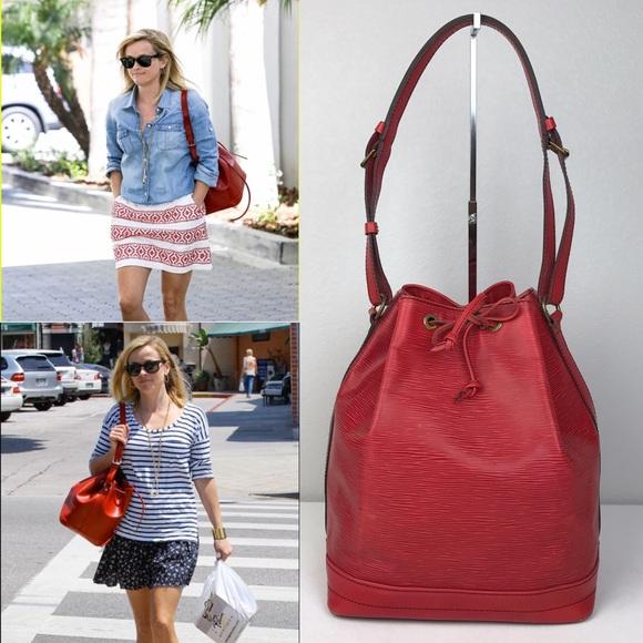 66590c7cf217b Louis Vuitton Handbags - Louis Vuitton Epi Noe GM in Red Epi Leather
