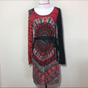 Desigual Dresses & Skirts - Desigual dress sz L long sleeve sequins pockets