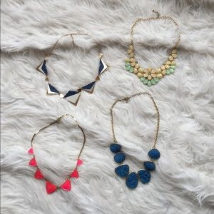 bauble bar Jewelry - Lot of four necklaces!
