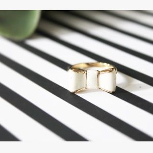 Kate Spade Gold & Cream Bow Ring