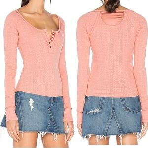 Free People Sugar & Spice Henley, Small, NWT