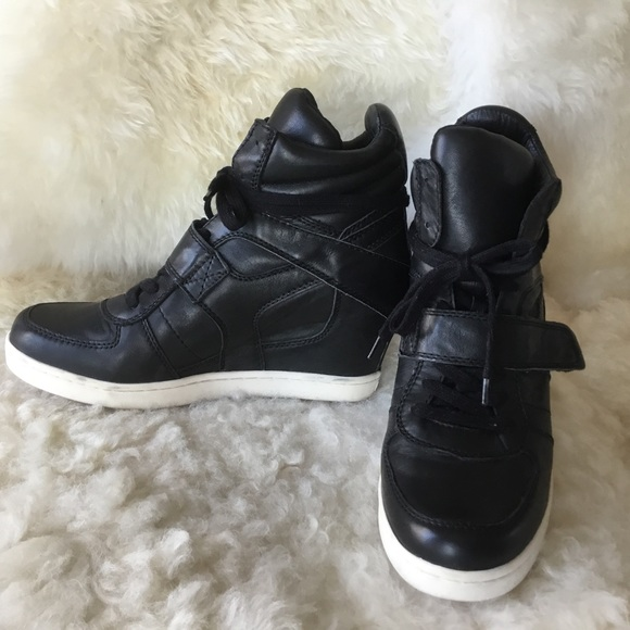 c4ee757fb4b0 Ash Shoes - Ash Brand Black Leather  Cool Ter  Wedge Sneakers