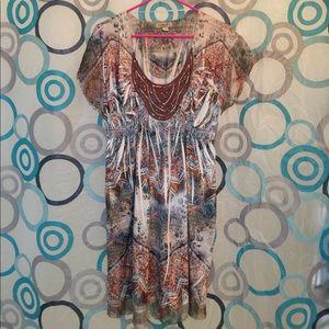 ONE WORLD Dresses & Skirts - One World short sleeves dress knee length nice L